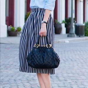 J. Crew NET Pleaded Stripe Skirt